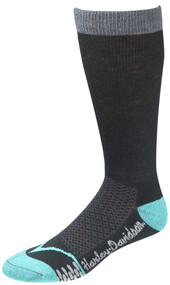Harley-Davidson Wolverine Women's CoolMax Performance Rider Socks (Teal, Medium) - Wisconsin Harley-Davidson