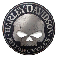 Harley-Davidson Cut Out Rustic Willie G Skull Aluminum Sign AC-HARL-CUSCGPX5 - Wisconsin Harley-Davidson