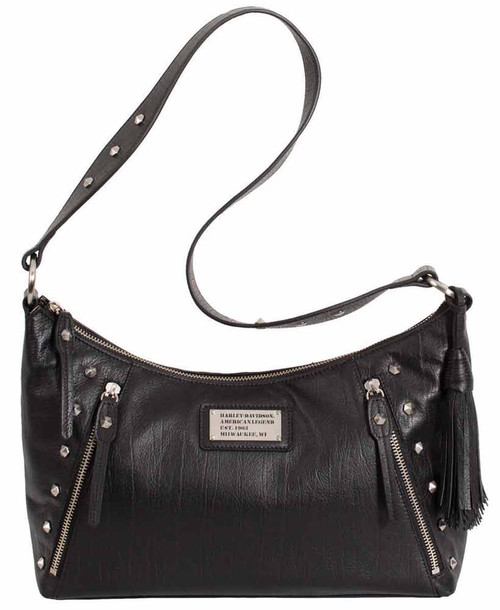 Harley Davidson Womens All Bark Black Shoulder Bag  AB7733L-Black - Wisconsin Harley-Davidson