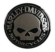 Harley-Davidson Silver Skull Classic Emblemz Decal,, 5.5 Inch CG8123 - Wisconsin Harley-Davidson