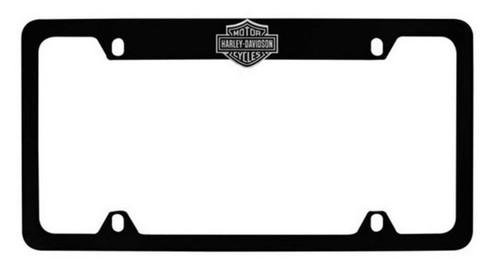 Harley-Davidson Bar & Shield License Plate Frame Matte Black HDLFZKE14-U - Wisconsin Harley-Davidson