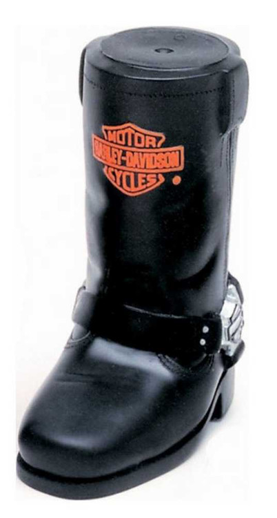 Harley-Davidson Bar & Shield Cowboy Boot Squeaker Pet Toy Vinyl H8200-H-V00DOG - Wisconsin Harley-Davidson