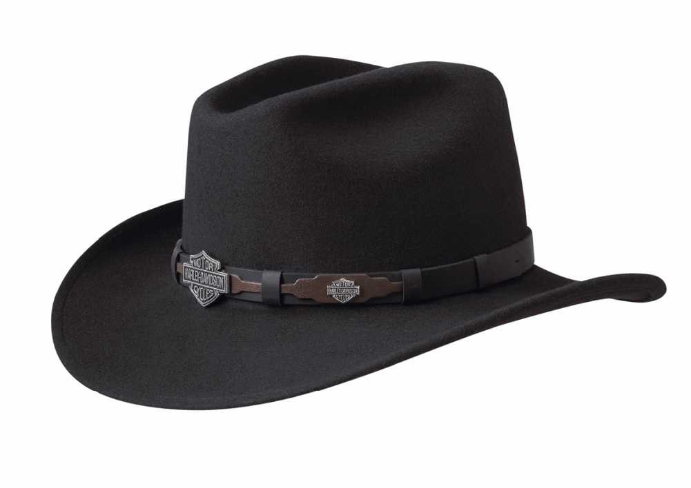 e6638975dd05c ... Free Shipping - Harley-Davidson Men s Crushable Wool Cowboy Western Hat  HD. See 1 more picture