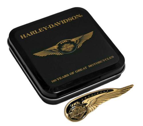 Harley-Davidson 110th Anniversary Winged Tank Badge Pin Limited Edition HDBCB226 - Wisconsin Harley-Davidson