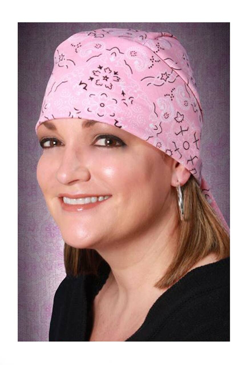 That s A Wrap Women s Bandana Pink Paisley Design Stretch Wrap 52112ed0e