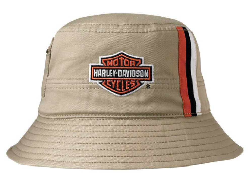 759e3e6c576 ... Harley-Davidson Mens Khaki Stripes Bucket Hat HD-. See 1 more picture