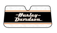 Harley-Davidson Sun Shade, Stacked HD Text Accordion Style Universal Fit 3726 - Wisconsin Harley-Davidson