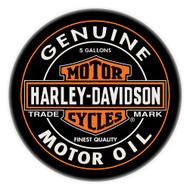 Harley-Davidson Genuine Oil Can Bar Stool w/ Backrest HDL-12203 - Wisconsin Harley-Davidson