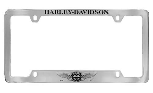 Harley-Davidson 110th Anniversary Logo License Plate Frame Cover HDLF237-UF - Wisconsin Harley-Davidson
