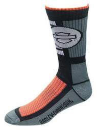 Harley-Davidson Wolverine Men's CoolMax Wicking Riding Socks, Gray D99085370-020 - Wisconsin Harley-Davidson