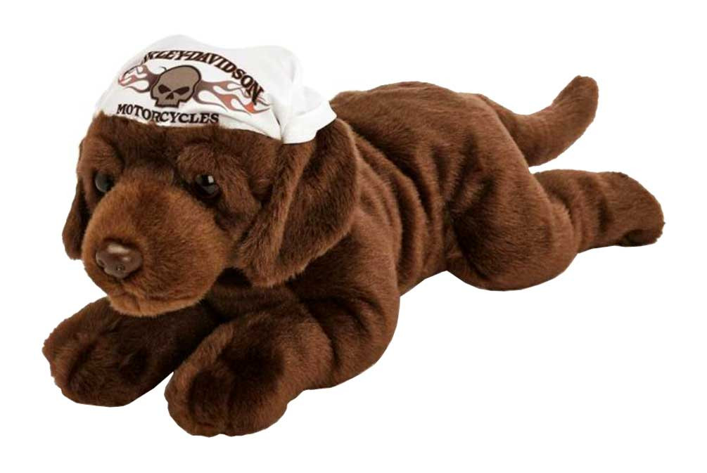 Harley Davidson Kid S Ironhead 14 Inch Chocolate Lab Stuffed Animal