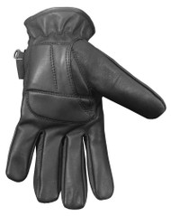 Redline Men's Gel Padded Full-Finger Leather Motorcycle Gloves, Black G-056 - Wisconsin Harley-Davidson