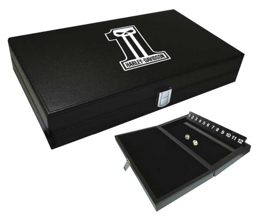 Harley-Davidson Dark Custom #1 Skull Logo Shut the Box Game, Black 66935 - Wisconsin Harley-Davidson