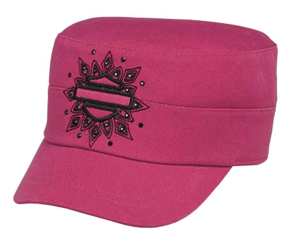 c0dfc4508 Harley-Davidson® Women's Embellished Bar & Shield Flat Top Cap, Pink  97761-16VW