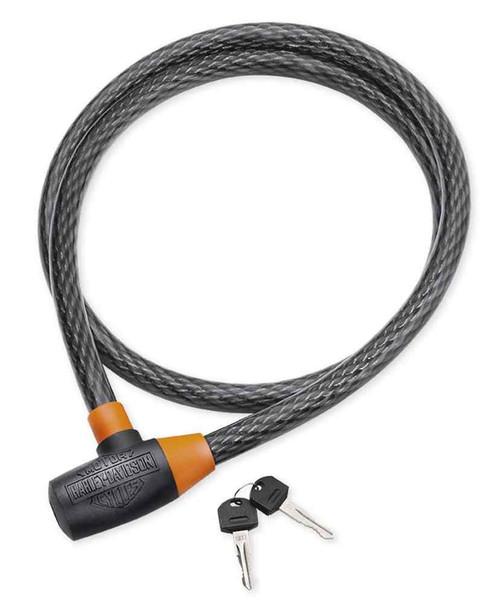 Harley-Davidson 20mm Super Hard Steel Wire Cable Lock, Black 46089-98A - Wisconsin Harley-Davidson