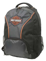 Harley-Davidson Embroidered Bar & Shield Colorblocked Backpack, Black 7180609 - Wisconsin Harley-Davidson