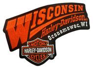Harley-Davidson Wisconsin Harley Embroidered Emblem Patch, 5.5 x 4 inch EMCUS03 - Wisconsin Harley-Davidson