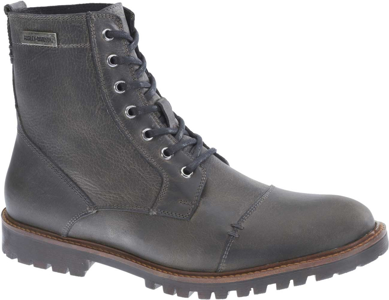 cce0f8850a2ac8 Harley-Davidson® Men s Aldrich 6-Inch Ash Grey or Brown Motorcycle Boots  D93353 - Wisconsin Harley-Davidson