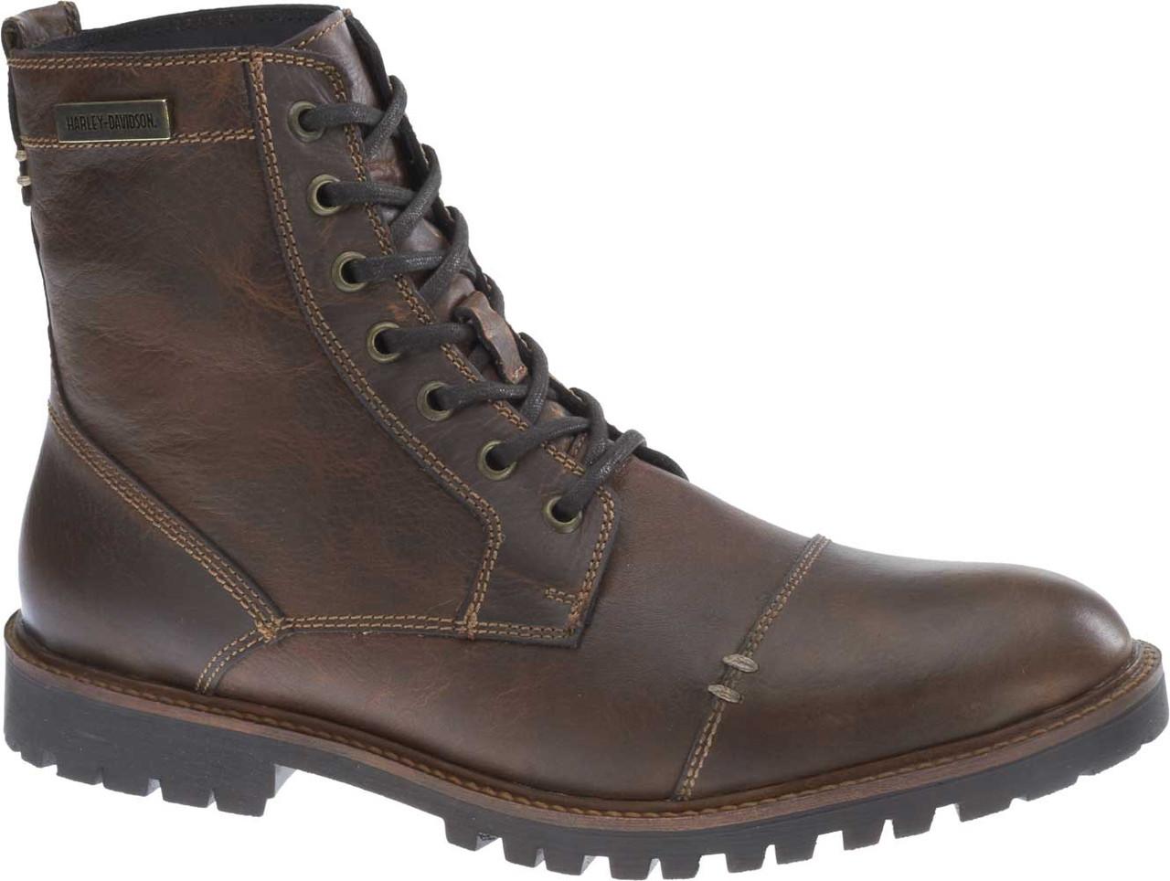 358552fdcef Harley-Davidson® Men's Aldrich 6-Inch Ash Grey or Brown Motorcycle Boots  D93353