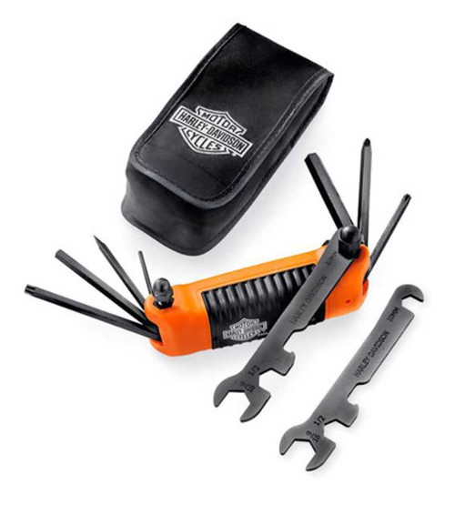 Harley-Davidson All-in-One Folding Tool, Ideal Traveling Companion 94435-10 - Wisconsin Harley-Davidson