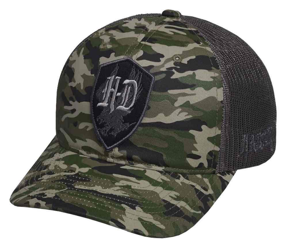 Harley-Davidson® Men s H-D Patch Camouflage Trucker Cap 2c37592d9221