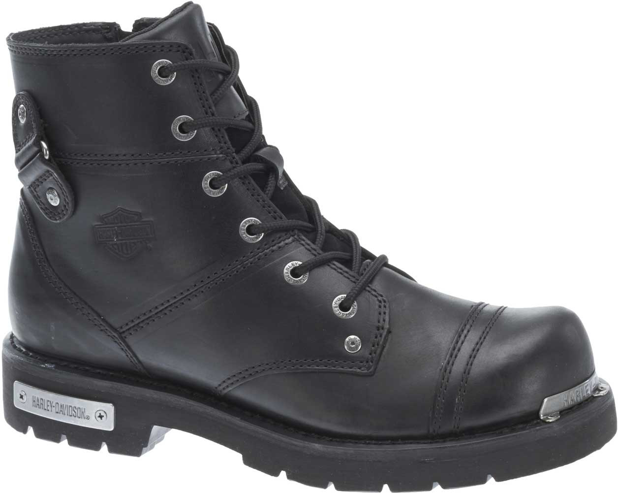 16af4ca674c2 Harley-Davidson® Men s Fireside Side-Zip Motorcycle Boots Black or Stone  D96103 - Wisconsin Harley-Davidson