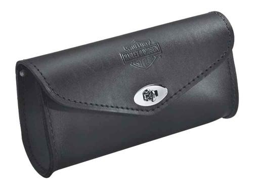 Harley-Davidson Embossed Bar & Shield Leather Windshield Bag, Black 58308-95 - Wisconsin Harley-Davidson