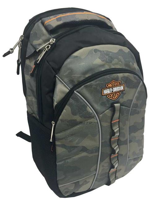 Harley-Davidson Bar & Shield Laptop Backpack, 19.5 x 13.5 in, Camo 99913 CAMO - Wisconsin Harley-Davidson