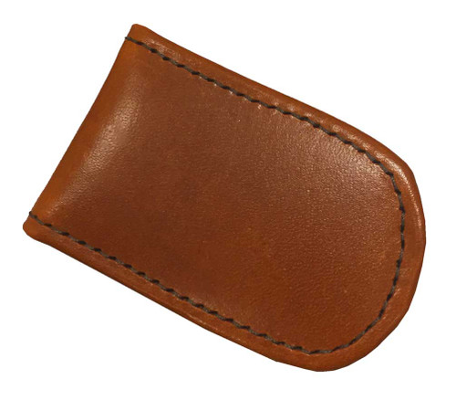 Genuine Leather Men's Leather Magnetic Money Clip, Brown Biker Leather MC-46 - Wisconsin Harley-Davidson