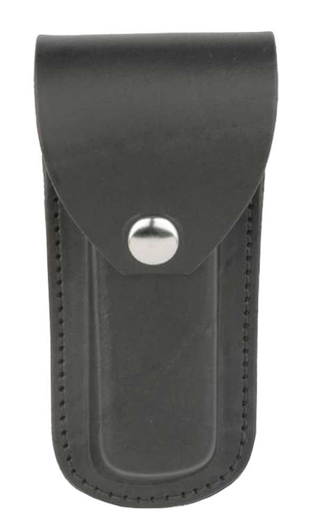 Genuine Leather Plain Knife Case, Fits 5 x 1.5 in Knives, Black Leather SC600-23 - Wisconsin Harley-Davidson