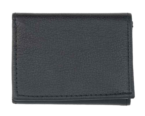 Genuine Leather Men's Fine Tri-Fold Smooth & Soft Leather Wallet, Black FT803B - Wisconsin Harley-Davidson