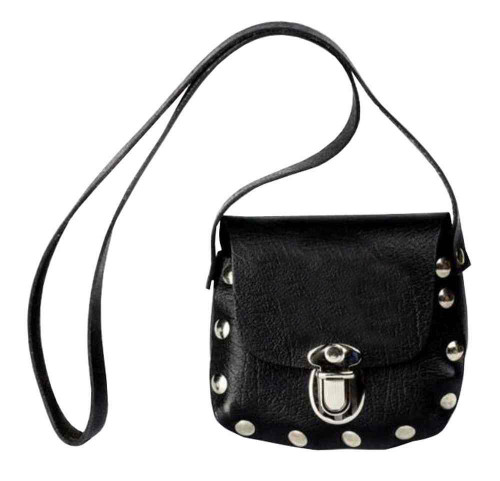 Genuine Leather Little Girls' Little Shoulder Bag Purse, Black Leather P32 - Wisconsin Harley-Davidson