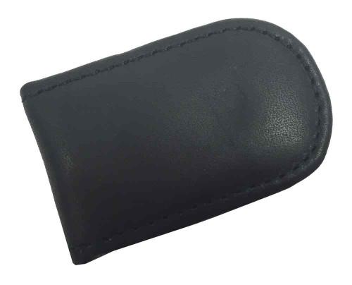 Genuine Leather Men's Leather Magnetic Money Clip, Black Biker Leather MC-23 - Wisconsin Harley-Davidson