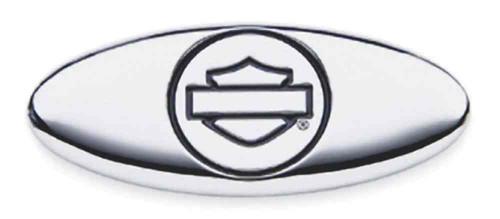 Harley-Davidson Chrome Finish Oval Bar & Shield Decorative Medallion 91716-02 - Wisconsin Harley-Davidson