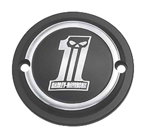 Harley-Davidson Dark Custom #1 Skull Timer Cover, Fits XL & XR Models 32415-09 - Wisconsin Harley-Davidson