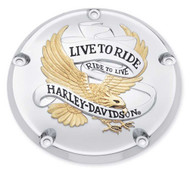 Harley-Davidson Live to Ride Gold Derby Cover,Fits Dyna,Softail & Etc. 25340-99A - Wisconsin Harley-Davidson