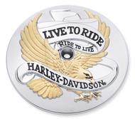Harley-Davidson Live to Ride Gold Air Cleaner Trim,Evolution 1340 model 29328-99 - Wisconsin Harley-Davidson