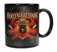 Harley-Davidson Firefighter Original Ceramic Coffee Mug, 11 oz. Black CM126581 - Wisconsin Harley-Davidson