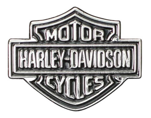 Harley-Davidson Bar & Shield Logo Lapel Pin, 2D Nickel Plated Die Cast P302661 - Wisconsin Harley-Davidson