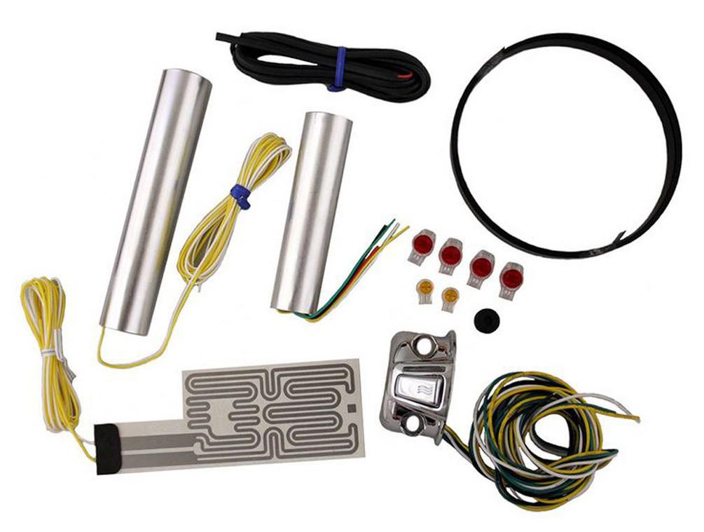 Heat Demon Motorcycle Grip Heater Kit Four-Level Controller, Chrome on