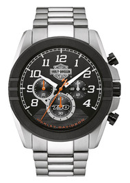 Harley-Davidson Men's Six-Hand Chronograph Watch, Two-Tone Steel Case 76B175 - Wisconsin Harley-Davidson