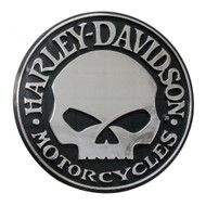 Harley-Davidson Willie G Skull Chrome Injection Molded Emblem, Chrome CG9113 - Wisconsin Harley-Davidson