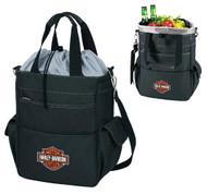 Harley-Davidson Activo Insulated Cooler Tote, Bar & Shield Logo, Black 614-00 - Wisconsin Harley-Davidson
