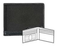 ROUT Competitor Ballistic Slim Billfold Wallet, Full-Grain Leather Trim RBN22068 - Wisconsin Harley-Davidson