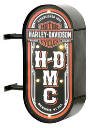 Harley-Davidson HDMC Marquee Lite-Up Pub Sign, Distressed Steel HDL-15516 - Wisconsin Harley-Davidson