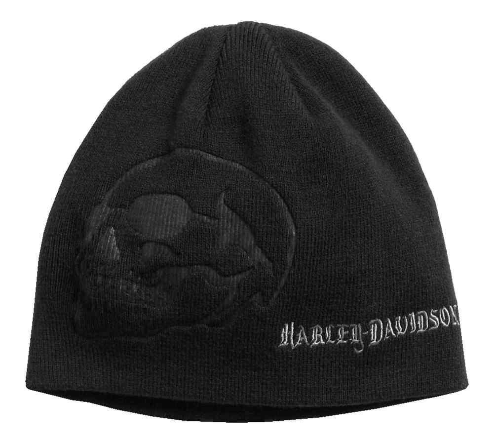 0b85a6355fb Harley-Davidson® Men s Debossed Skull Knit Beanie Hat