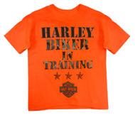 Harley-Davidson Little Boys' H-D Biker In Training Tee, Safety Orange 1570671 - Wisconsin Harley-Davidson