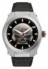 Harley-Davidson Men's Multi-Layer Willie G Skull Medallion Watch, Leather 76A156 - Wisconsin Harley-Davidson