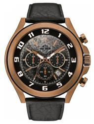 Harley-Davidson Men's Six-Hand Chronograph Watch, Amber Plated Finish 78B148 - Wisconsin Harley-Davidson