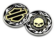 Harley-Davidson Golden Skull / Bar & Shield Challenge Coin, 1.75 inch 8005092 - Wisconsin Harley-Davidson